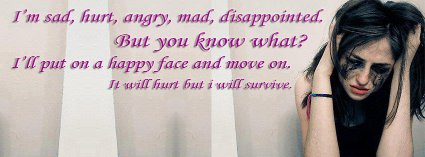 But will survive by putting on a fake smile sad girl cover photos