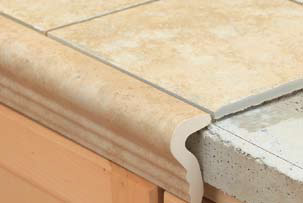 Countertop Edge Options For Tile : Countertop Tile Trim These Beautiful Granite Counters Break Up
