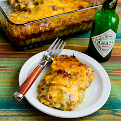 Vegetarian Green Chile and Pinto Bean Layered Mexican Casserole Recipe ...