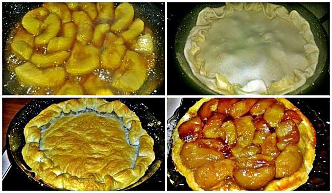 Preparación de la tarta tatín de manzana