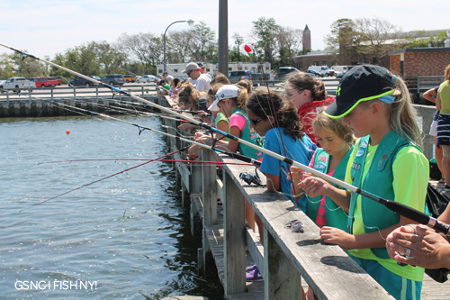 Girl scouts of nassau county fishing at jones beach s for Jones beach fishing pier