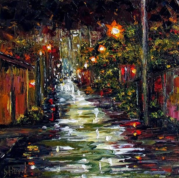 easy night scene paintings - photo #43