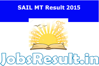 SAIL MT Result 2015