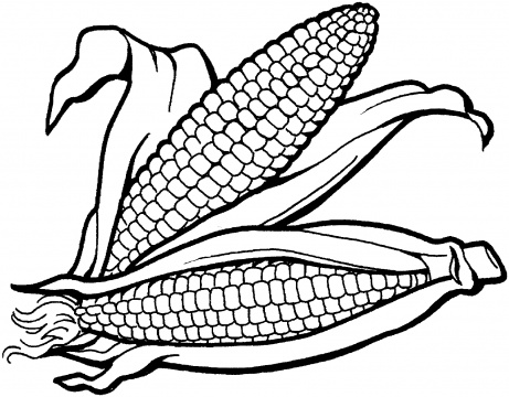 Dibujos de Maiz para colorear