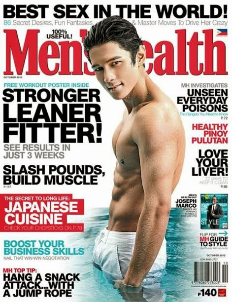 Joseph Marco Shirtless on Men's Health October 2013 Cover
