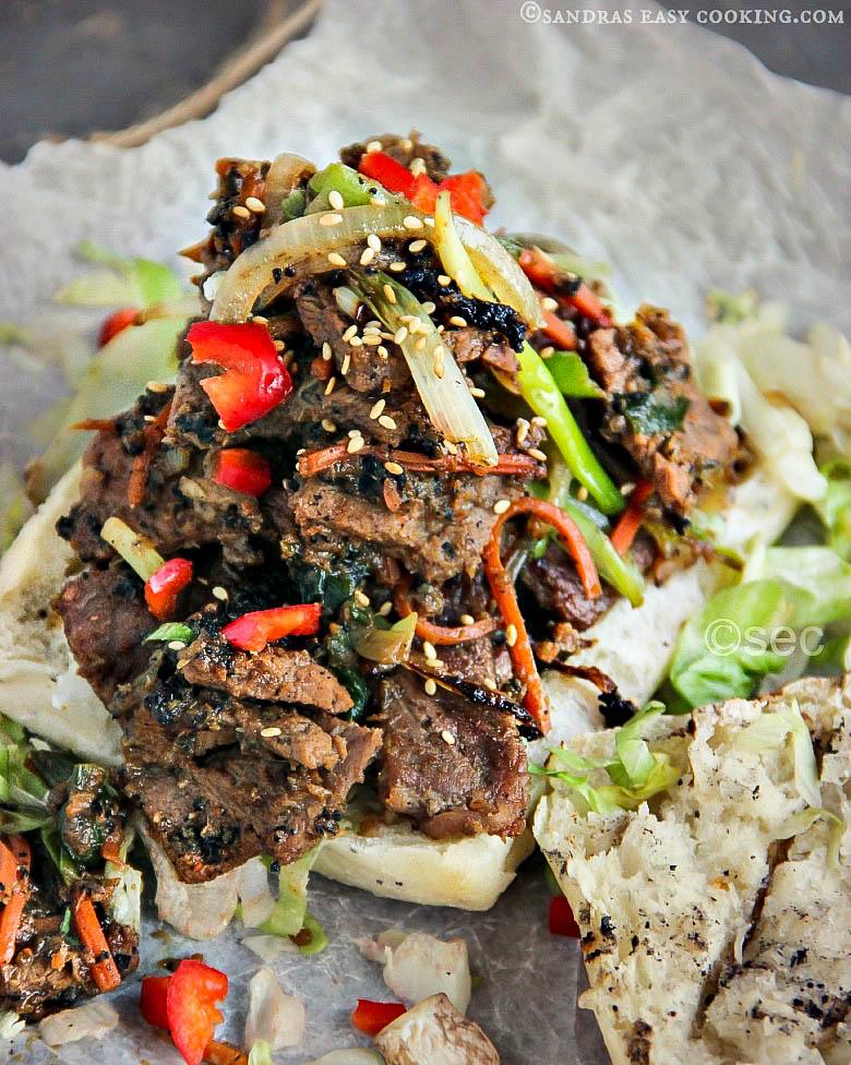 Bulgogi Ciabatta Sandwich #Recipe #bulgogi #homemade