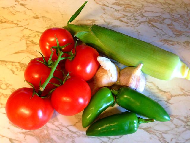 fresh ingredients for salsa