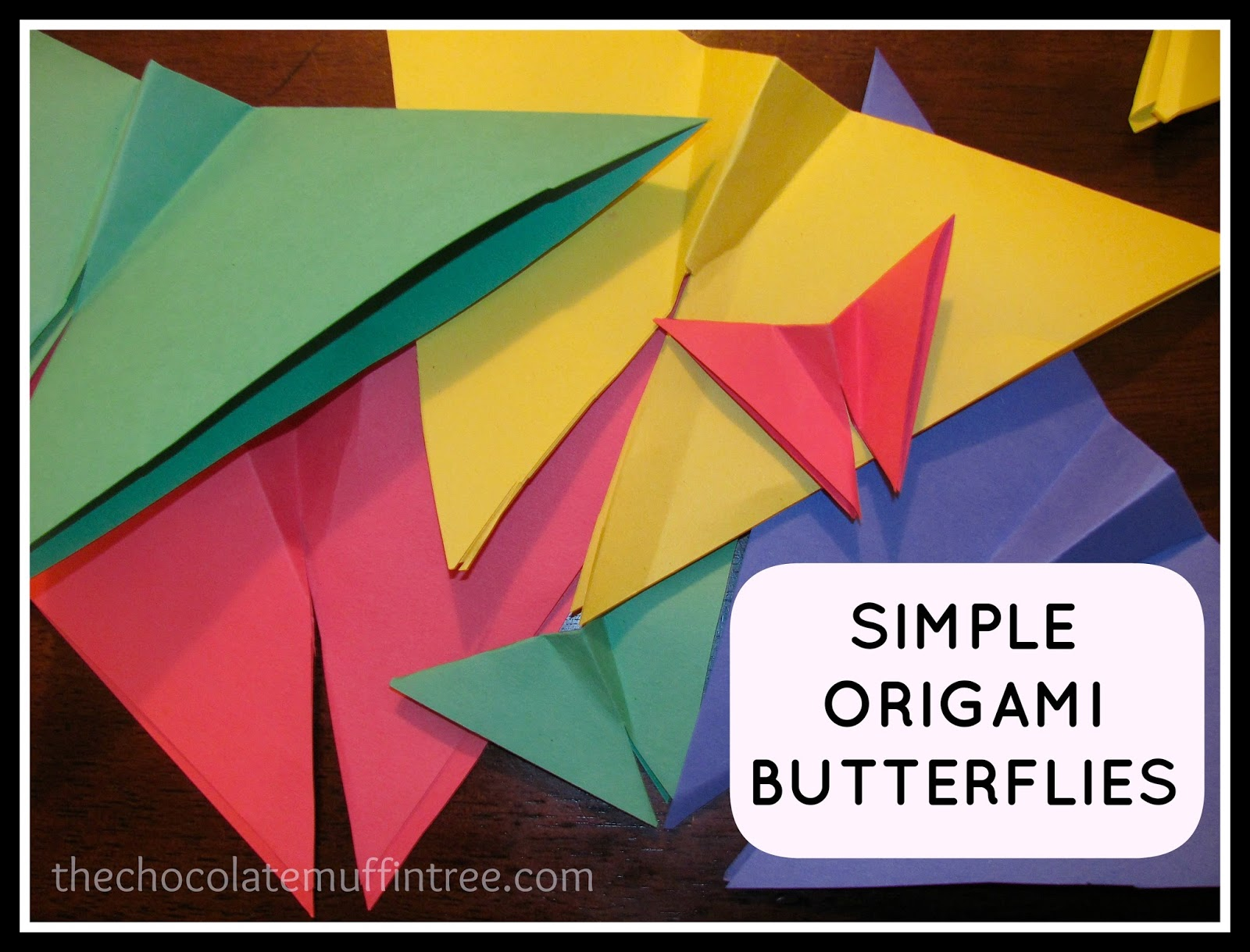 The Chocolate Muffin Tree: Simple Origami Butterflies ... - photo#12