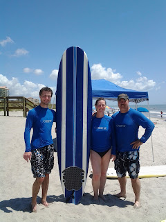 Surfing at Cooa Beach, Florida