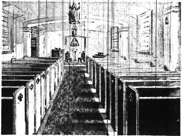 The inside of the new chapel in 1947