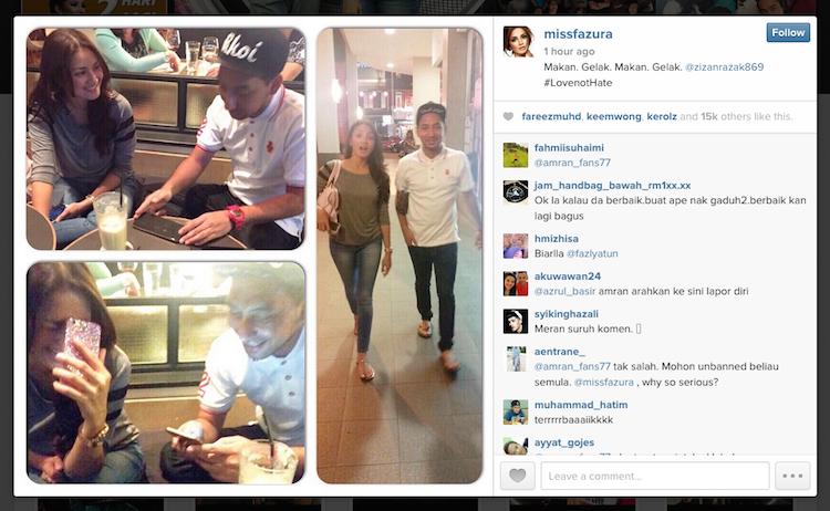 Zizan dan Fazura upload gambar MESRA di Instagram
