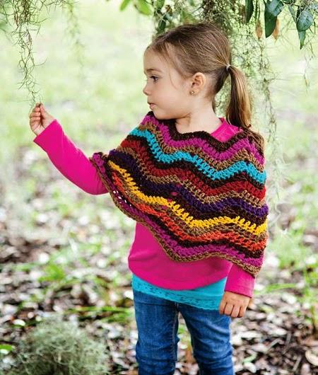 free crochet pattern chevron poncho