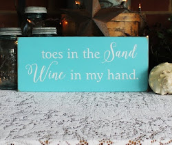 Toes in the Sand Wine in my Hand