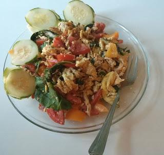 chicken vegetable scramble lunch