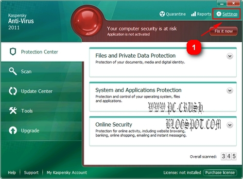 cara menggunakan crack kaspersky antivirus 2011 1