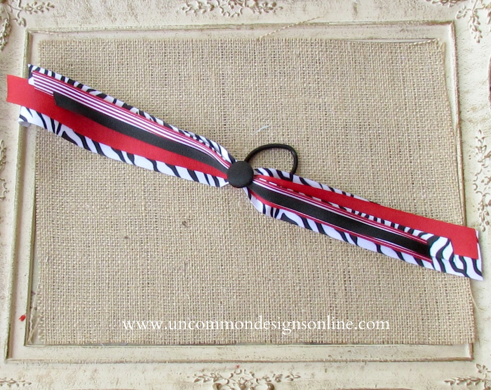 How to make spirit and cheer ribbons hair bows with the i top baditri Image collections