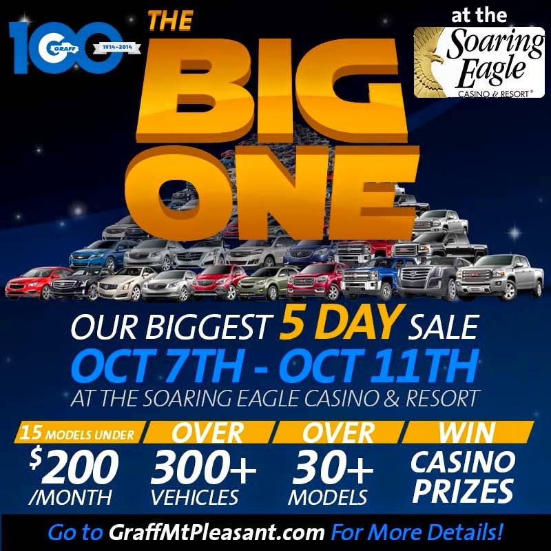 The Big One Sale at Soaring Eagle Casino | Graff Mt. Pleasant