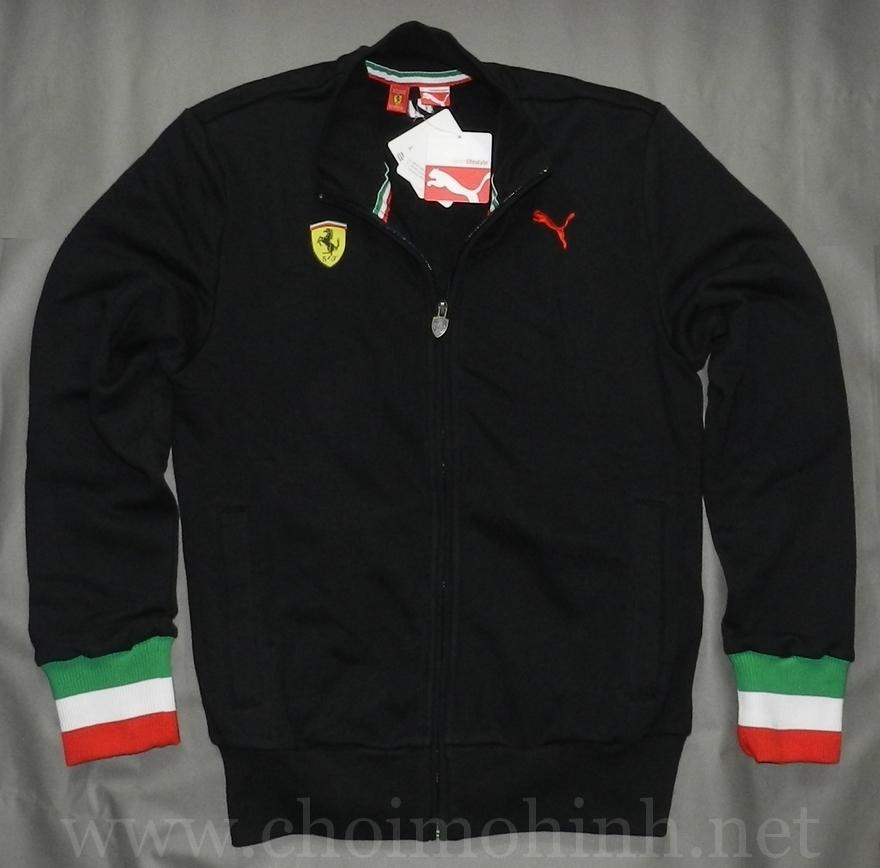 Áo khoác Ferrari Puma lifestyle BLACK front