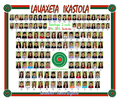 Lauaxeta ikastola orla 2014-2015