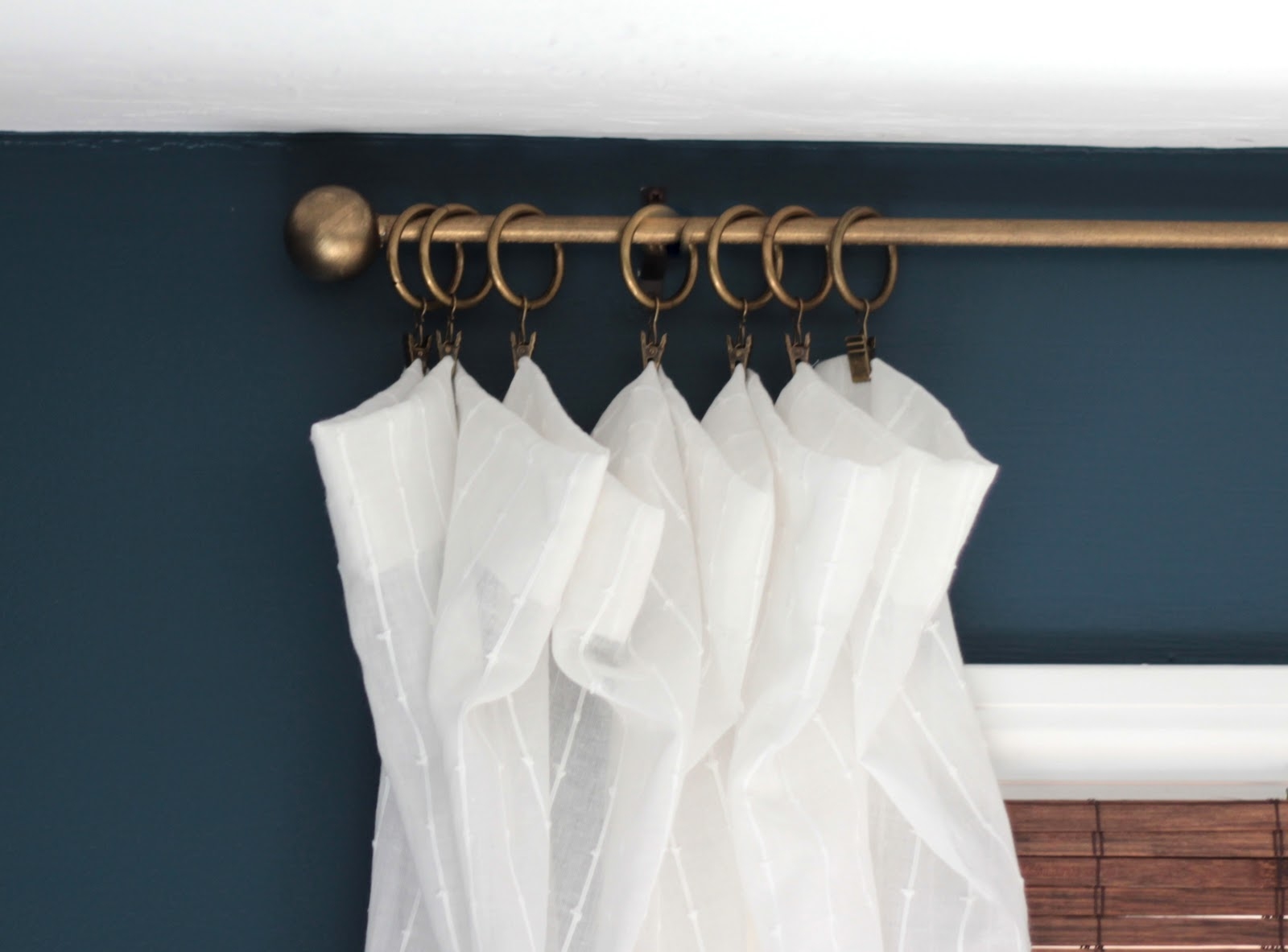 White curtain rings with clips - White Curtain Rings With Clips 56