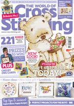 FIND BLUE RIBBON DESIGNS IN ISSUE 199 (January 2013) OF The World Of Cross Stitching Magazine