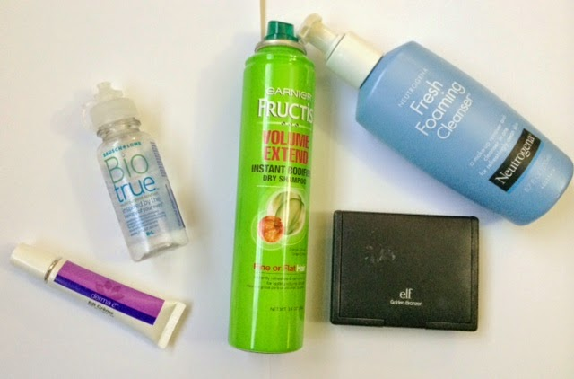 Garnier Fructis Dry Shampoo and Elf Bronzer Review