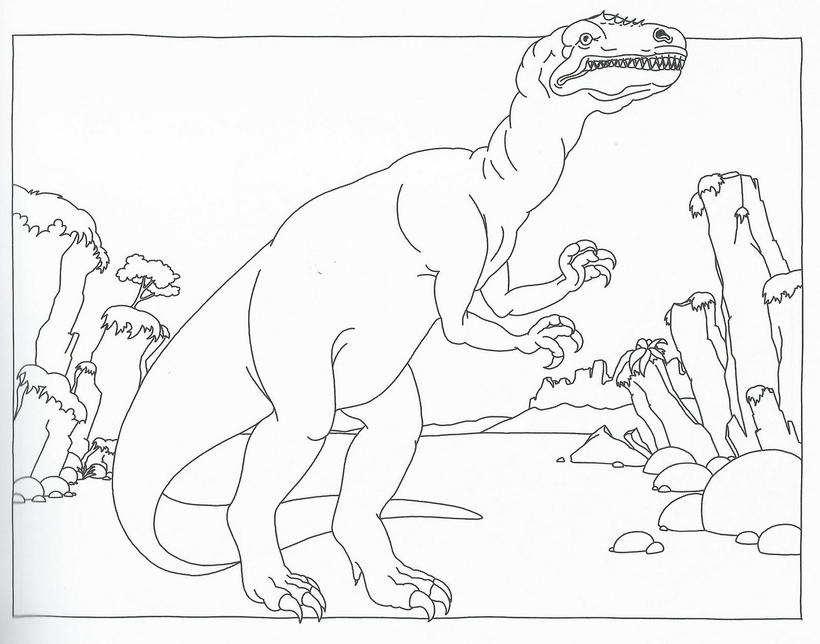 dinosauri da stampare e color are