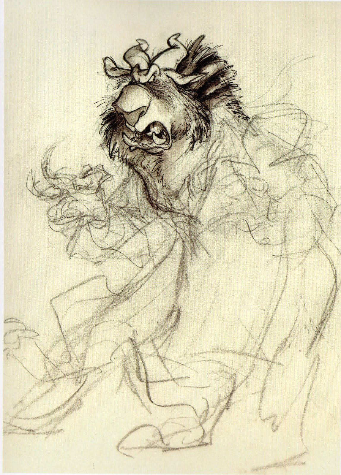 The Croods: Chris Sanders Sketches: Beauty and the Beast
