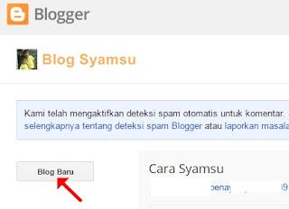Cara Menambah Blog Baru di Dasbor Blogger