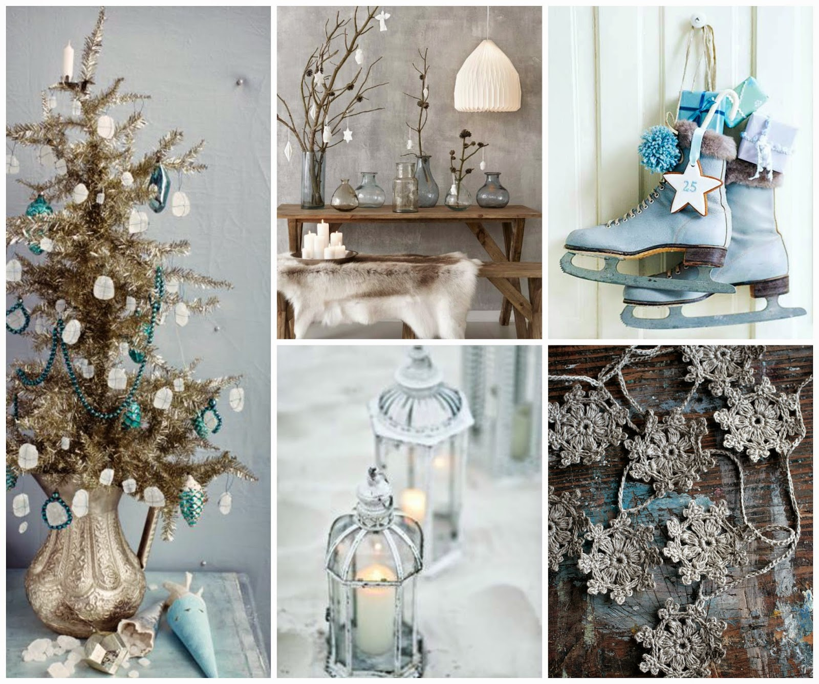 christmas- blue - shabby - chic