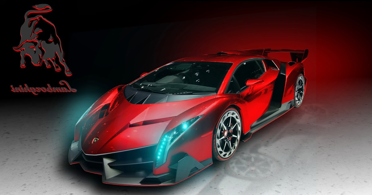 Lamborghini Veneno Red Art HD Wallpaper | Car Wallpaper ...