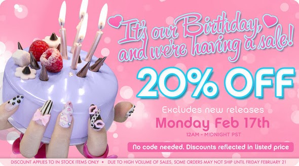 Sugarpill: It's Our Birthday And We're Having A Sale!