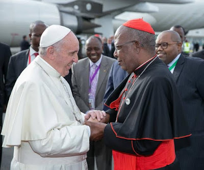 pictures of Pope Francis state visit kenya