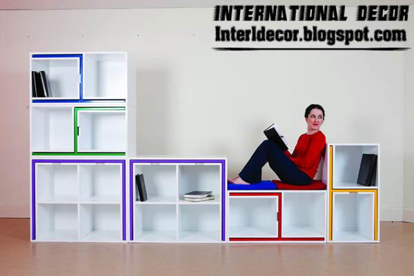 creative space saving furniture. Creative Space Saving Furniture, Kids Shelves Turn Into Table And Chairs Furniture A