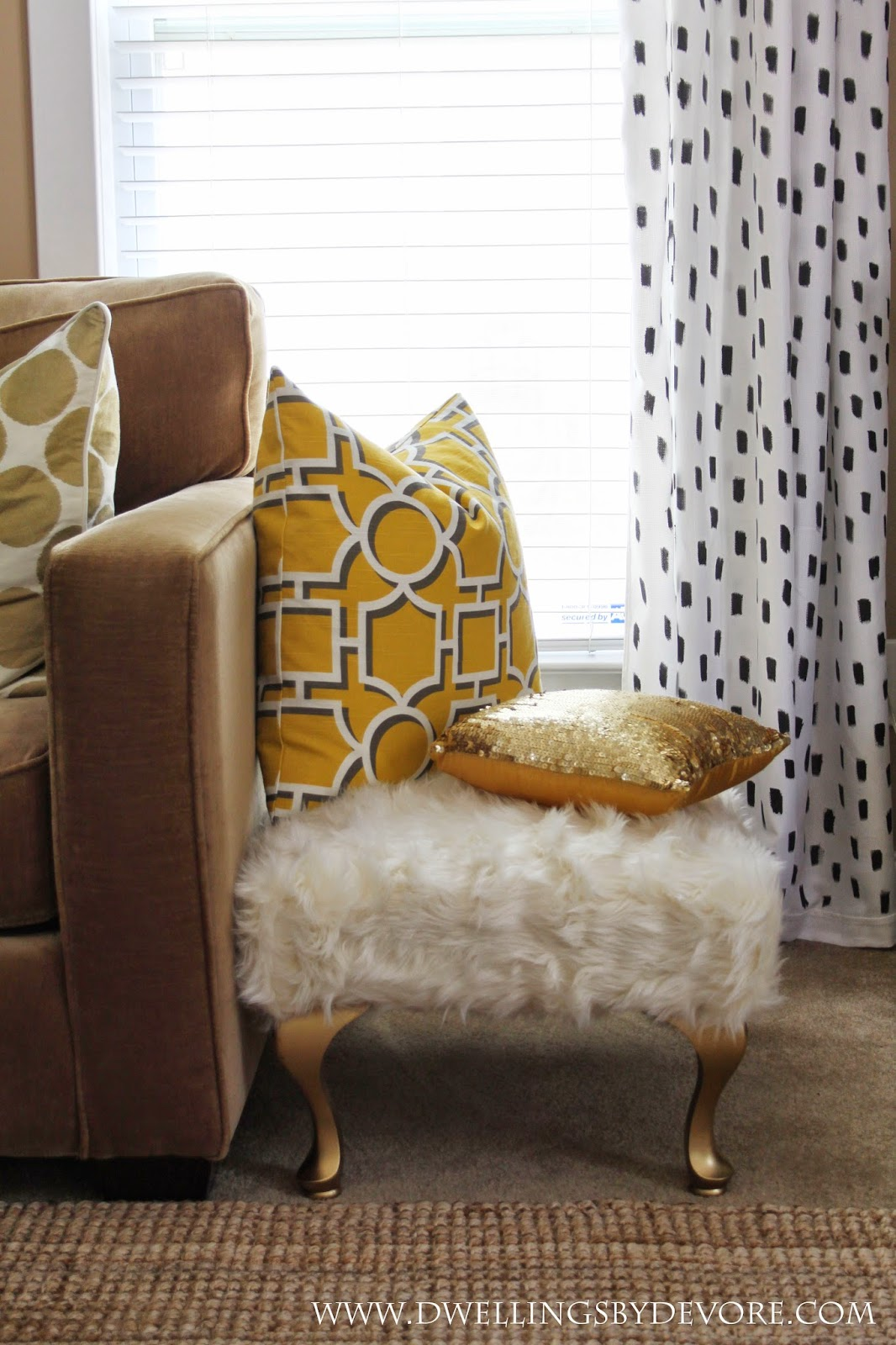 Dwellings By Devore Upholstered Faux Fur Bench