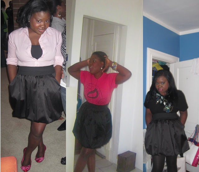 Chic therapy all cutesy and girly in my bubble skirt for Primark button down shirt