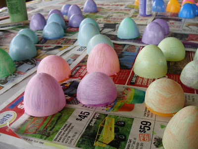 Painted Plastic Easter Eggs Tutorial