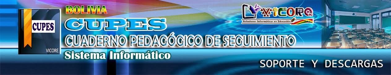 CUPES BOLIVIA - REGISTRO CUADERNO PEDAGÓGICO /2018