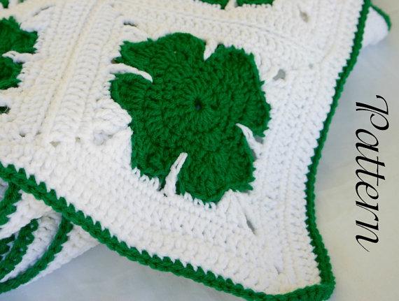 yonca+yaprakl%C4%B1+battaniye+(3) Yonca Modelleri Battaniye Örneği