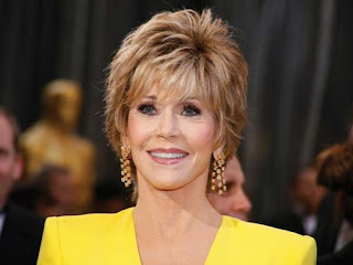Oscar Jewelry: Jane Fonda wearing Chophard earrings