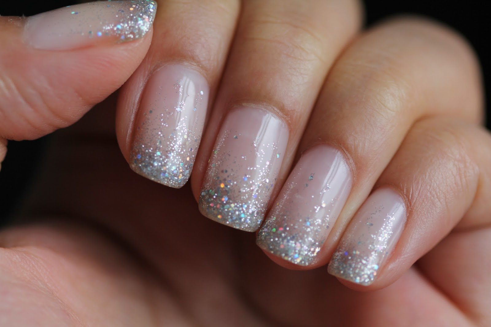 DSK Steph!: Cindy\'s Nails Glitter Waterfall Shellac Nails