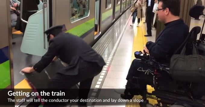 Resultado de imagem para Acessibilidade urbana no Japão: Veja um cadeirante usando trens e o metrô em Tóquio