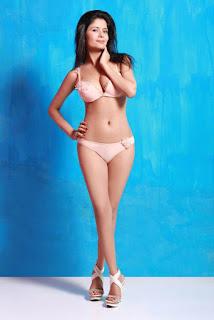 Gehana Vasisth in pink bikini