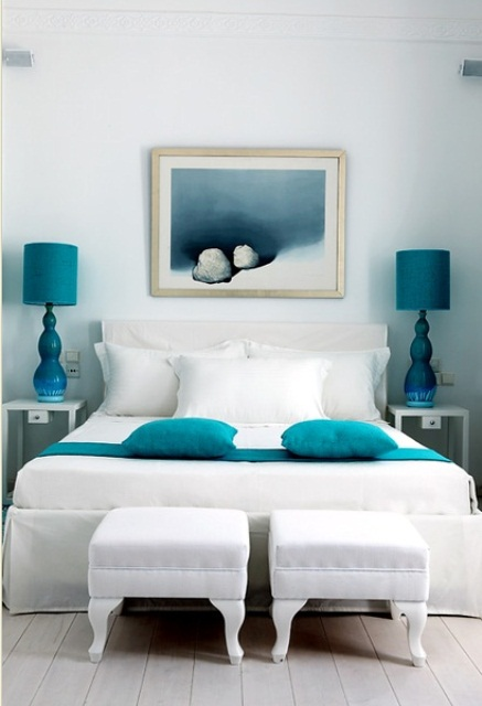 Coastal Bedroom Turquoise