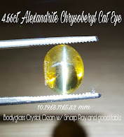 4,66ct Alexandrite Chrysoberyl Cat Eye