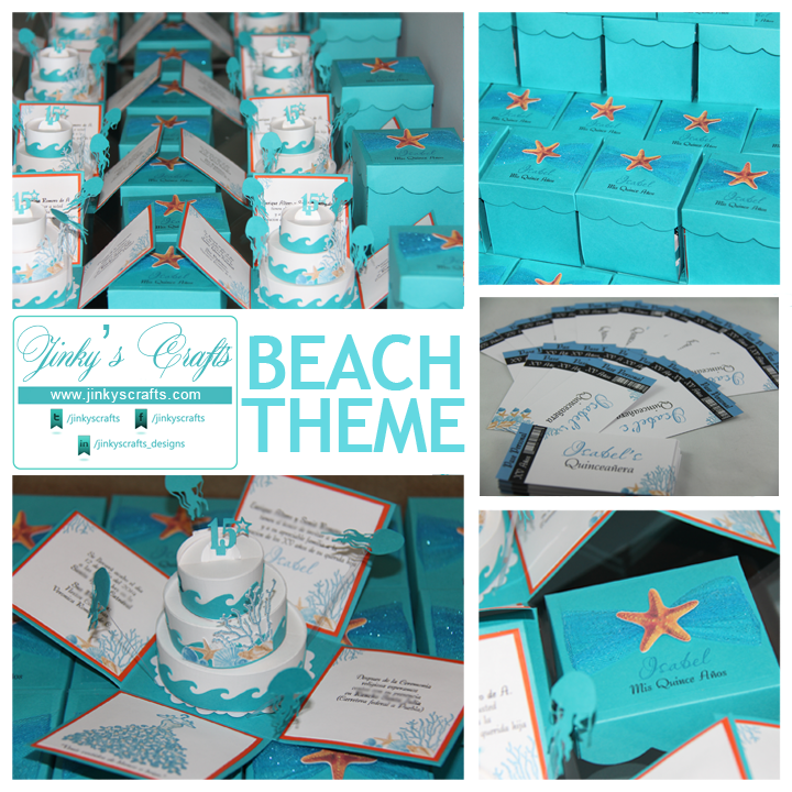 Jinky S Crafts Amp Designs Beach Themed Exploding Box Quincea 241 Era Invitations