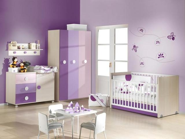 Habitaciones de beb en color morado dormitorios con estilo - Dormitorio malva ...