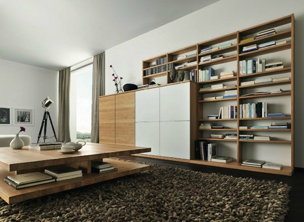 Modern furniture White oak living room furniture