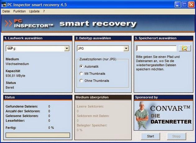 برنامج مجاني لإستعادة الملفات المحذوفة بسرعة وكفاءة PC Inspector smart recovery 4.5