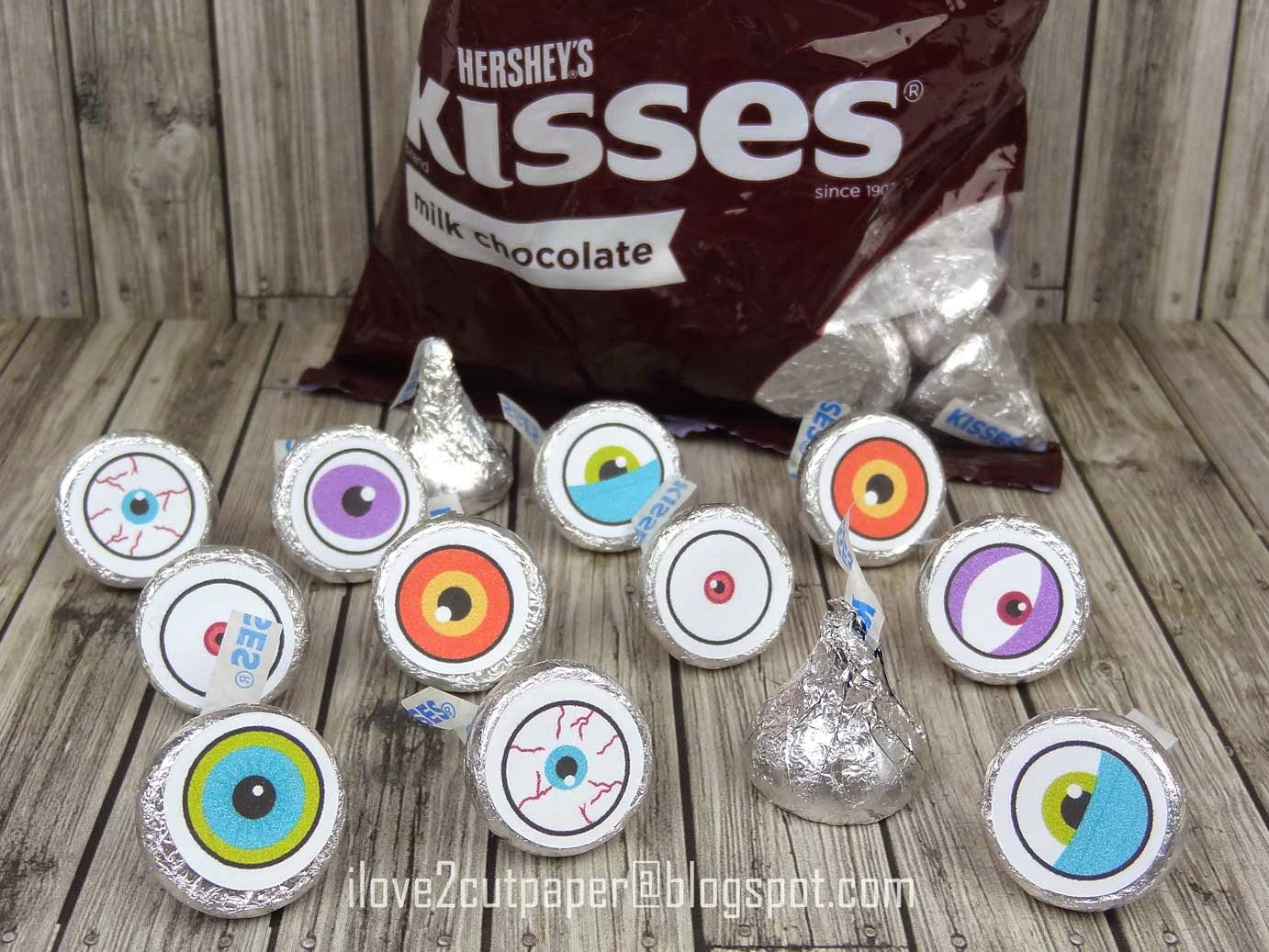 Eye Ball toppers for Hershey Kisses